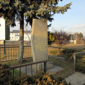 Milestone of the Soviet Army in Nové Mesto