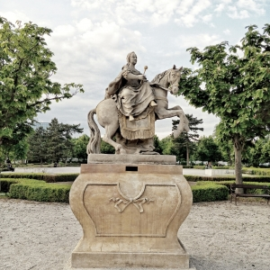 Maria Theresa in the Grassalkovich Palace garden