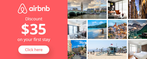 Get $35 off your first stay at Airbnb